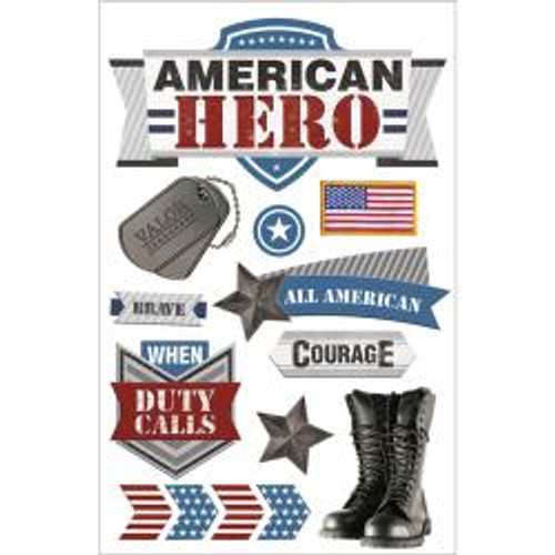 Paper House Productions 3D Stickers: American Hero