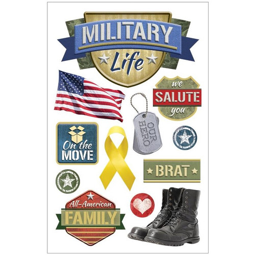 Paper House Productions 3D Stickers: Military Life