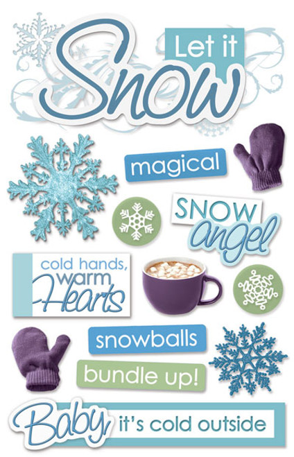 Paper House Productions 3D Stickers: Let It Snow