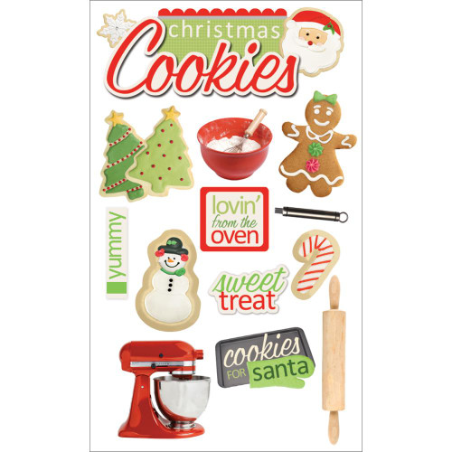 Paper House Productions 3D Stickers: Christmas Cookies