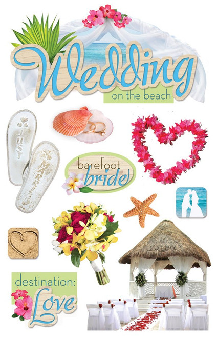 Paper House Productions 3D Stickers: Wedding on the Beach
