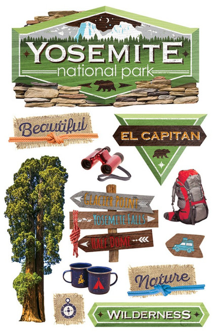 Paper House Productions 3D Stickers: Yosemite National Park