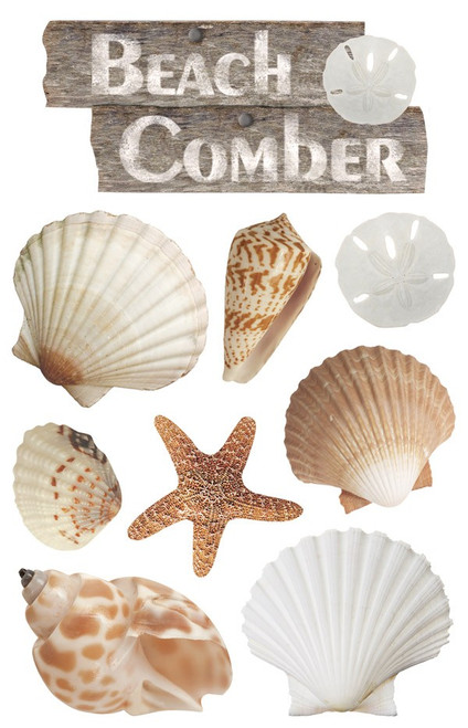 Paper House Productions 3D Stickers: Beach Comber