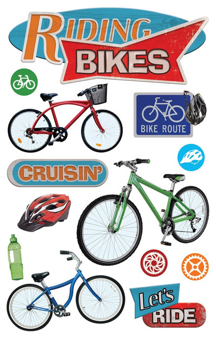Paper House Productions 3D Stickers: Riding Bikes