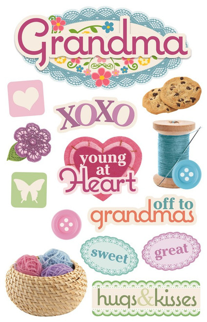 Paper House Productions 3D Stickers: Grandma