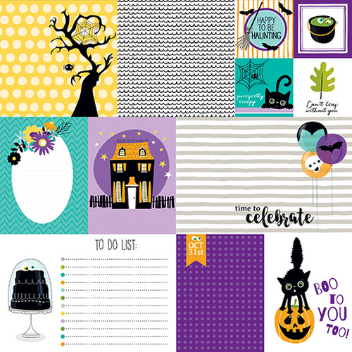 Bella Blvd Sweet & Spooky 12x12 Paper: Daily Details