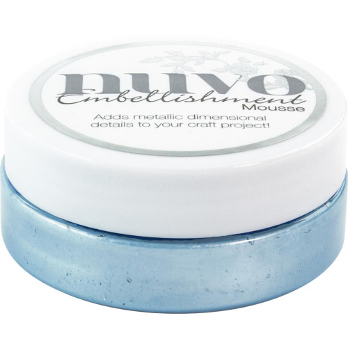 Tonic Studios Nuvo Embellishment Mousse: Cornflower Blue
