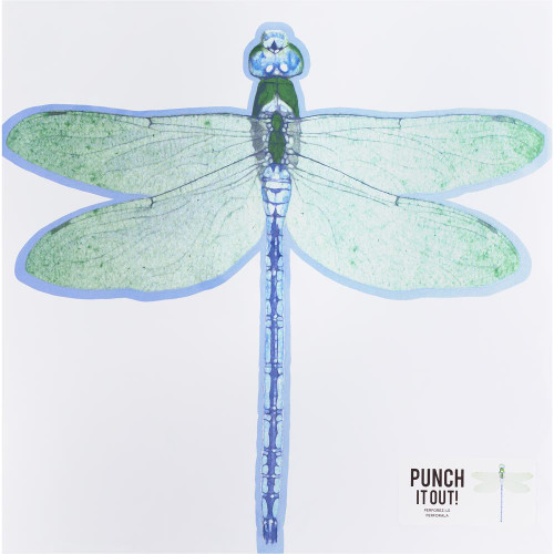American Crafts 12x12 Punch It Out! Diecut Paper: Dragonfly