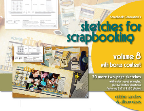 E-BOOK: Sketches For Scrapbooking - Volume 8 All-Inclusive (non-refundable digital download)