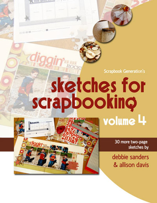 E-BOOK: Sketches For Scrapbooking - Volume 4 (non-refundable digital download)