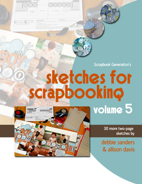 E-BOOK: Sketches For Scrapbooking - Volume 5 (non-refundable digital download)