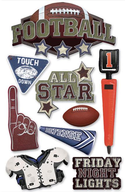 paper house 3d sticker football scrapbook generation