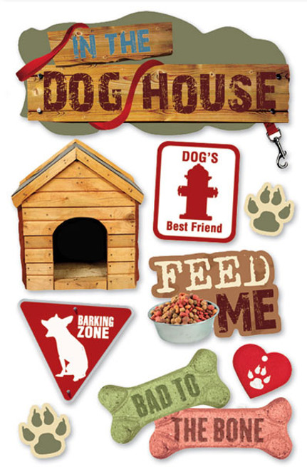 Paper House 3D Sticker: Dog