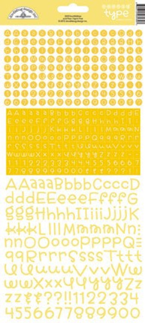 Teensy Type Cardstock Alphabet Stickers: Bumblebee