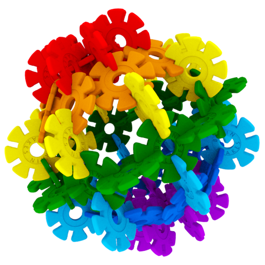 Brain Flakes Rainbow Ball