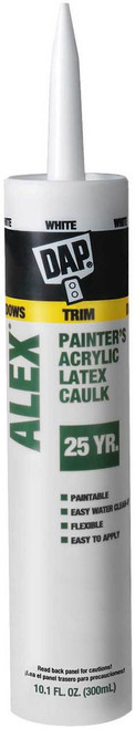 DAP Alex Painters Acrylic Latex Caulk - White