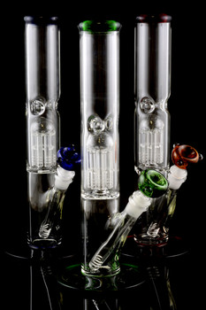 (US Made) Medium Straight Water Pipe with Perc - WP333