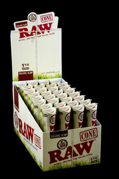 Raw Organic Rolling Paper Cones 1 1/4 - RP158