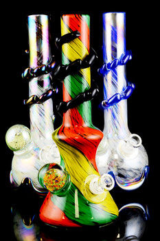 Extra Thick Large Glass on Glass Soft Glass Water Pipe - WP821