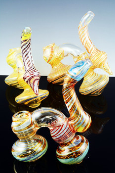 Color Changing Double Chamber Sherlock Bubbler - B715