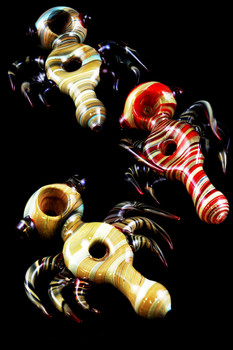 """Unique Spiked Reverse """"Donut Hole"""" Pipe - P1137"""