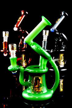 "Medium Stemless GoG ""Microscope"" Recycler Water Pipe - WP986"