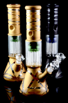 Medium Painted GoG Water Pipe with 10 Arm Tree Perc - WP1011
