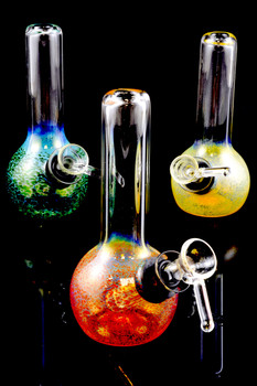 (US Made) Mini Color Changing Frit Water Pipe - WP1024