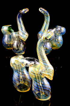 Large Color Changing Sherlock Double Chamber Bubbler - B0827