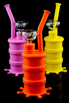 Small Silicone Barrel Water Pipe - WP1077