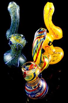 (Mix) Small Sherlock Glass Bubbler - B876