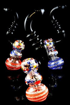 Large Multicolor Confetti Sherlock Bubbler - B882