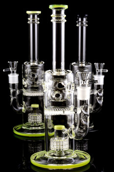 Medium Stemless GoG Water Pipe with Faberge Egg and Inline Matrix Percs - WP1220