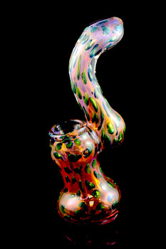 Large Gold Fumed Sherlock Bubble Bubbler - B918
