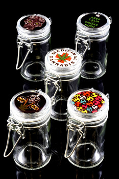 Glass Jar with Decal - J0159