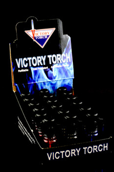 18 pc Victory Torch Lighter Display - L156