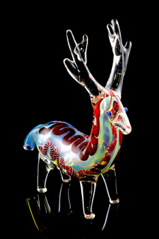 Color Changing Glass Reindeer Pipe - AP205