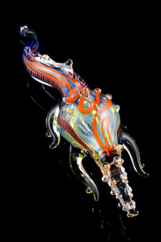 Color Changing Glass Crocodile Pipe - AP209