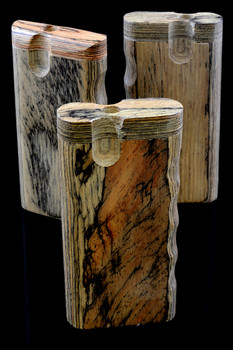 Large Natural Wood Dugout with Grip - W163