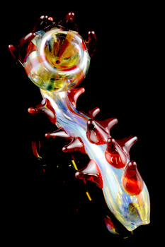 Large Color Changing Spiked Sherlock Glass Pipe - P1503
