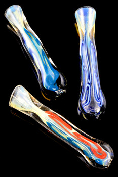 Color Changing Striped Glass Chillum - C210