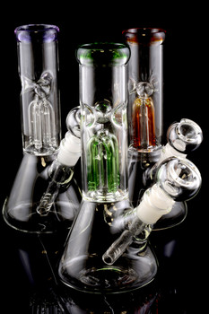 Small GoG Water Pipe with Tree Percolator - WP1359