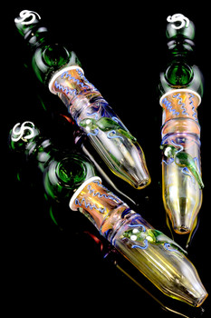 Large Color Changing Glass Lizard Steam Roller - P1510