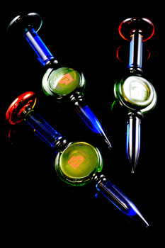 Colored Glass Flat Bottom Dab Tool - M246