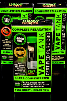 1000mg CBD Vape Tank Cartridge - CBD140