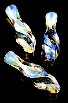 Color Changing Dichro Twisted Glass Chillum - C217