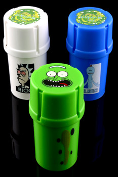 (US Made) Rick and Morty MedTainer Smell Proof Grinder Jar - J0167