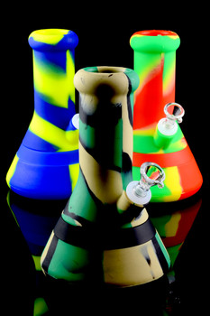 Colorful 2 Part Silicone Beaker Water Pipe - WP1444