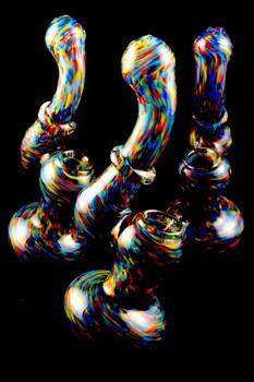Medium Sherlock Frit Glass Bubbler - B0974