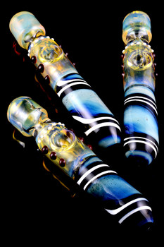 Color Changing Glass Swirl Steam Roller - P1588